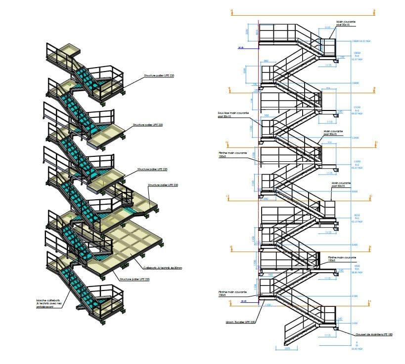 Escalier ERDF